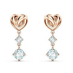 SWAROVSKI LIFELONG HRT love bright female earrings